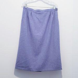 Vintage Pendleton Wool Tweed Blue A-line Skirt 14